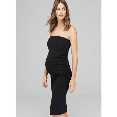 Black Off-the-shoulder Sexy Maternity Dress
