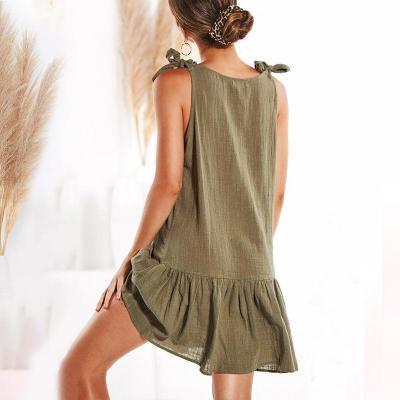 Maternity Plain V-Neck Pleated Skirt