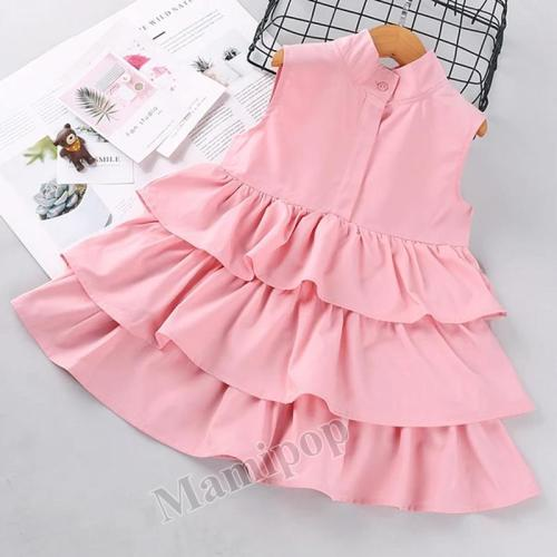Girls' Spring/Summer Sleeveless Dress Children Princess Dress 2020