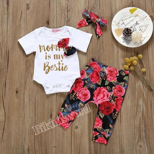 Children's printed hardcover + pants + three piece knot set