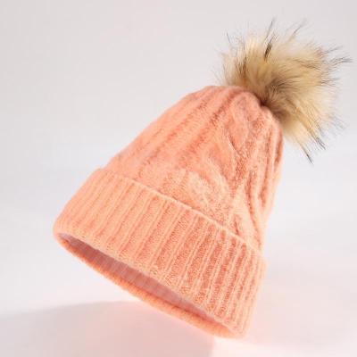Knit warm fashion versatile cap