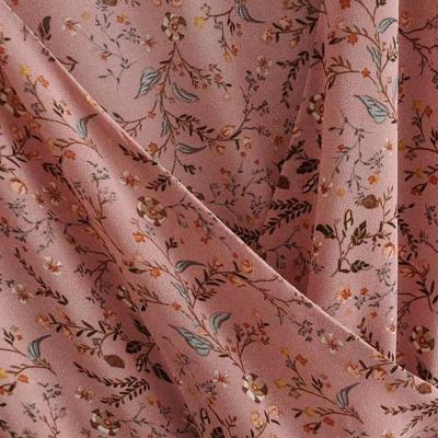 Maternity Pink Leaf Print Dress