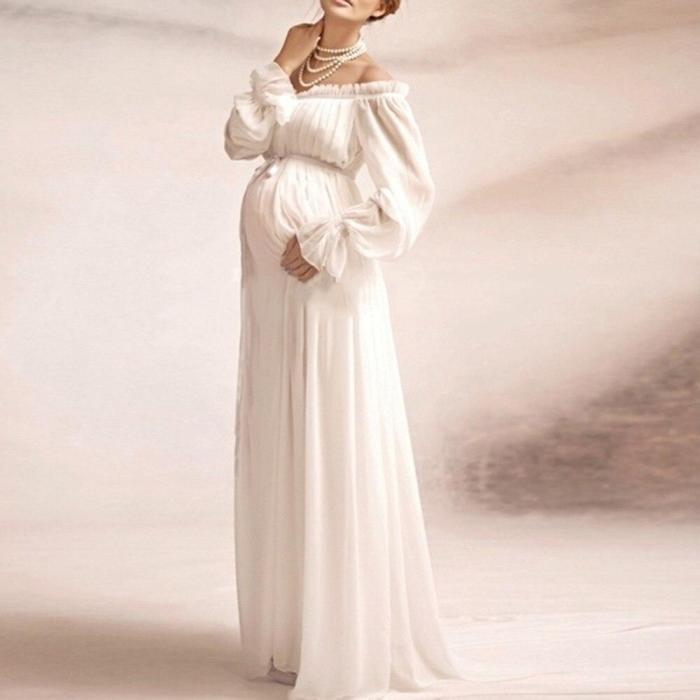 Maternity Dress Pregnant Women Photography Skirt Dress
