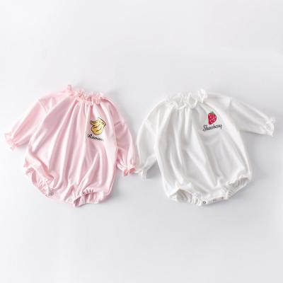 Spring and Autumn Girl Baby Fruit Loose Bag Fart Hatsuit  One Piece Creeper