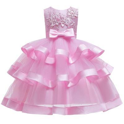 Multi-Layered Lace Flower Cake Princess Dress