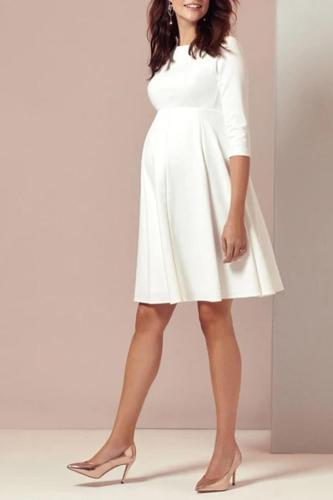 Pregnant womens wedding short dress