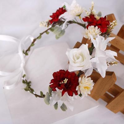 Bohemian artificial flower bride holiday headwear