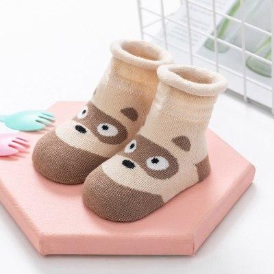 Kids Infant Baby Boys Girls Breathable Cartoon Animals Print Non-slip Socks Animal Mesh Socks