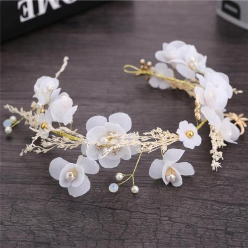 Gypsophila dried flower headband garland hair headwear