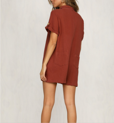 Maternity Casual Pure Color Shirt Button Dress