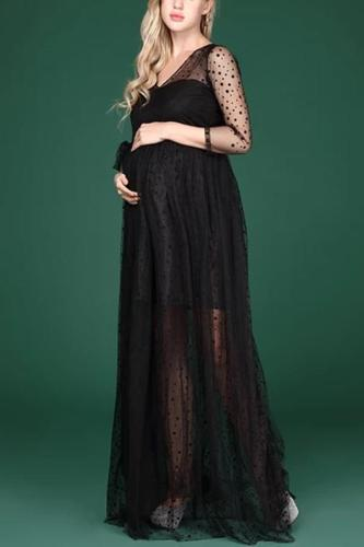 Pregnancy Pregnant Women Lace Dresses Photography Props
