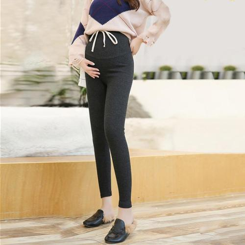 Maternity Fashion Solid Color High Waist Knit Leggings