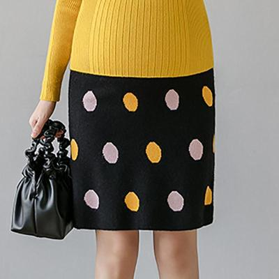 Maternity casual wave point knit skirt