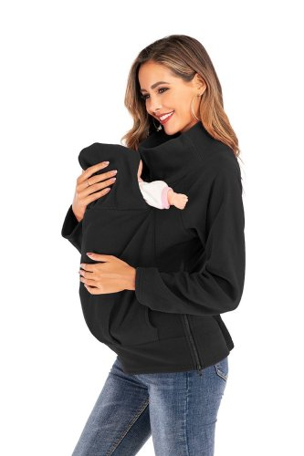 Autumn and winter new breast-feeding pregnant women with long-sleeved velvet jacket