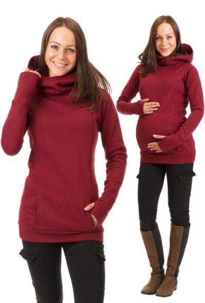 New Nursing Clothes for Pregnant Women with Velvet Padded Hooded