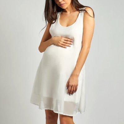 Maternity Back Cross Lace Beach Vacation Dress