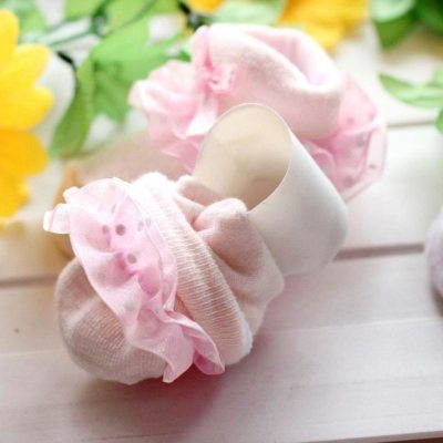 Lace Baby Girl Socks Baby Socks Bow Princess Socks Toddlers Combed Cotton Ankle Socks