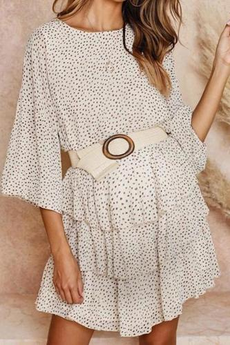 Maternity Sexy Floral Long Sleeve Dress