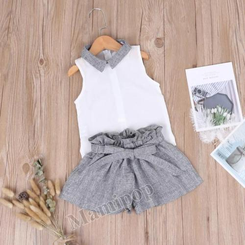 2020 Summer Children's Wear Children's Set Girl Sprite Vest Shorts Two-piece Set