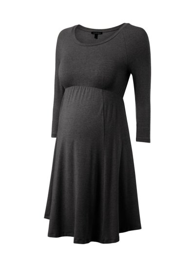 High Waist Slim Elastic Pregnancy Dress Clothes Knee Length Dress