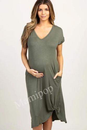 Short-sleeved  Fashionable Pregnant Women Dress