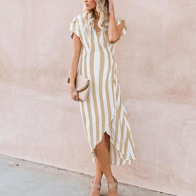 Maternity Stripe Tie Daily Dress (3 Colors)