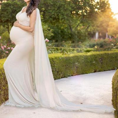 Maternity Solid Color Dress Photo Props