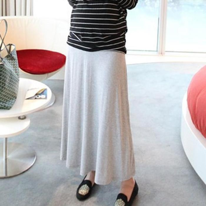Maternity casual solid color comfortable skirt