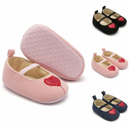 Girls Fashion Cute Love Non-Slip Elastic Band Elastic Dance Little Princess Infant Shoes