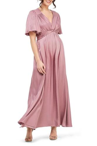 Maternity Fashion Short Sleeve Slim Fit Maternity Dress
