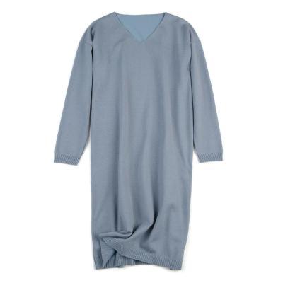 V long-sleeved Sweater Pregnant Women Dress