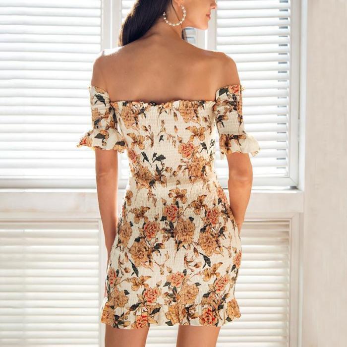 Maternity Plant Off The Shoulder Dress