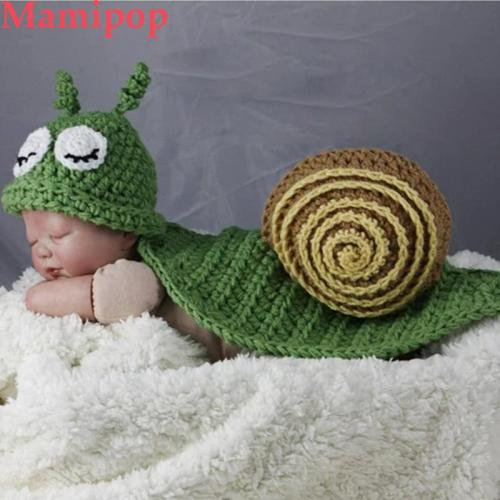 2pcs Snail Cartoon Animal Cute Newborn Photography Props