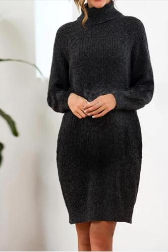 Maternity Loose Long Knit Sweater Dress