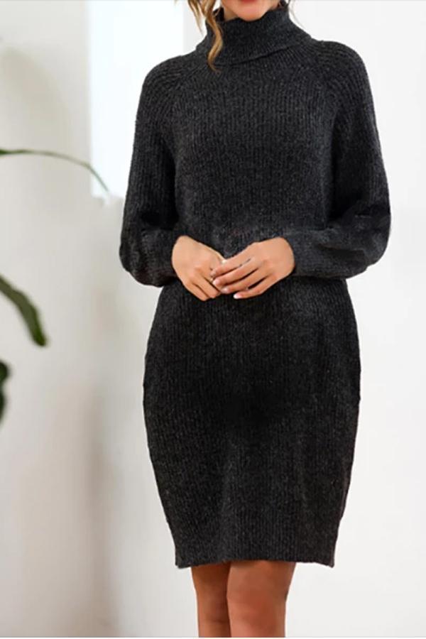 Maternity Loose Long Knit Sweater Dress