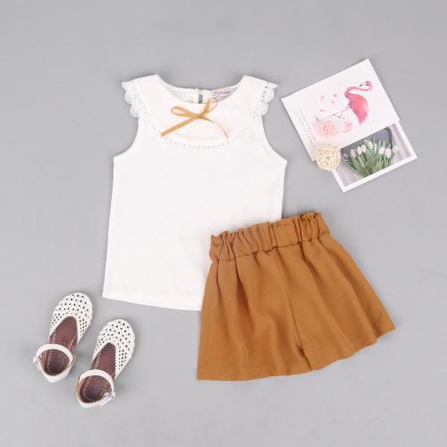 Summer  girls set fashion  shorts two-piece set