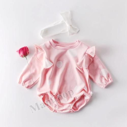 2020 New Spring Clothes Baby Polka Dot Cotton Long Sleeve Climbing Clothes