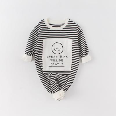 Spring Dress Baby Jumpsuit Boys and Girls Baby Smiley Face Long-sleeved Hae