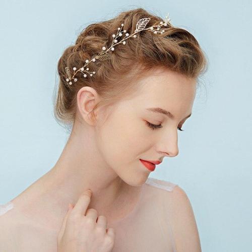 Gold Leaves Hair Vine Bridal Headband Wedding Photography Hair Accessories