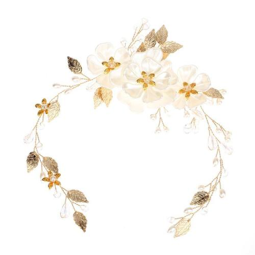 White pearl leaf accessory hair headwear