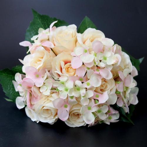 Pretty Charming Artificial Flowers PE Foam Rose Flowers Bride Bouquet Home Wedding Decor