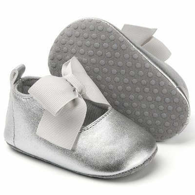 Kid Baby Girls Princess Cute Toddler First Walk Bow Knot Tie Silk Shoes