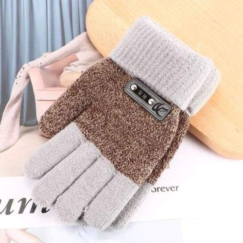Children Warm Knitted Finger Protector Gloves