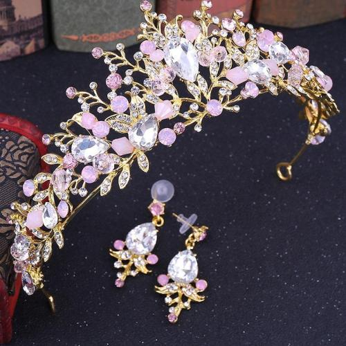 Baroque style wedding birthday rhinestone crystal headband crown