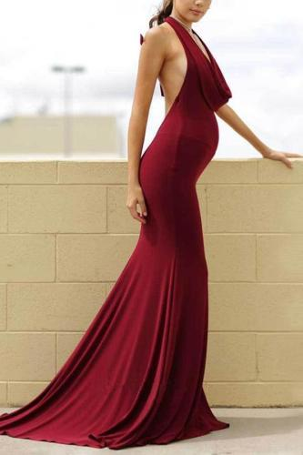 Maternity Solid Color Sleeveless Maxi Dress