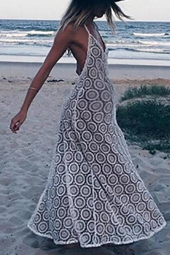Maternity Beach Casual Sling White Dress