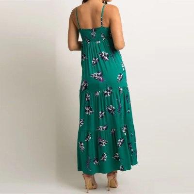 Women Maternity Dresses Sleeveless Pregnancy Floral Print Women Dress