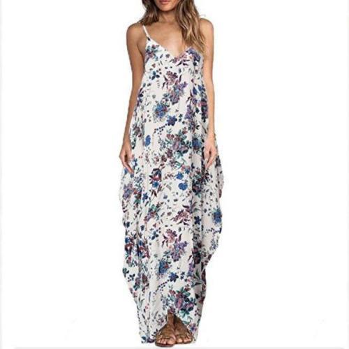 Maternity Floral Print Full Length Cami Dress