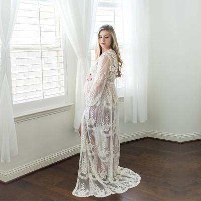 Summer Boho Lace Long Dress Maternity Photography Dresses