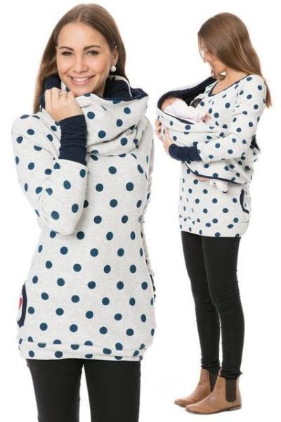 Maternity Nursing Hoodie   For Pregnant Women Breastfeeding Tops